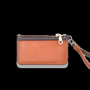 DOZI皮革 悠遊卡零錢包 附手拿繩